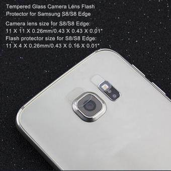 Tempered Glass Camera Lens Flash Protector for Samsung S8/S8 Edge - 5