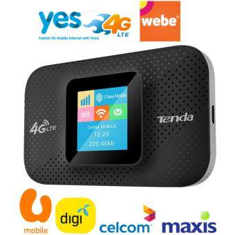 Tenda 4G LTE Portable MiFi Router (4G185) Webe Mobile, UMobile, Digi, Maxis, Celcom & Yes Mobile Supported