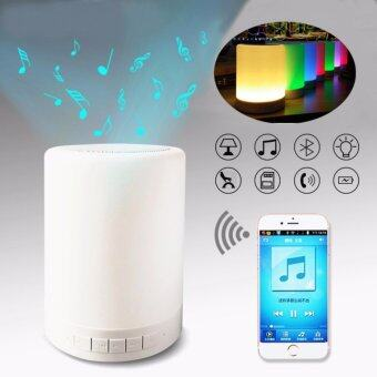 Harga Touch Colorful LED Light Bulb Wireless Bluetooth Speaker Music LampHandfree Call With TF Card Music Player Smart Speaker Subwoofer