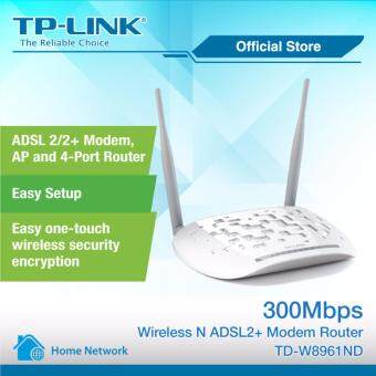 TP-LINK 300Mbps Wireless N ADSL2 + Modem Router - TD-W8961ND (Streamyx Support)