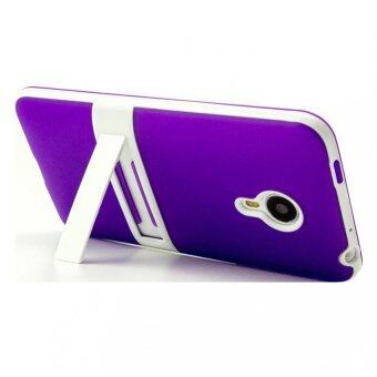 Harga TPU Soft Stand Back Case for Meizu MX4 (Violet)