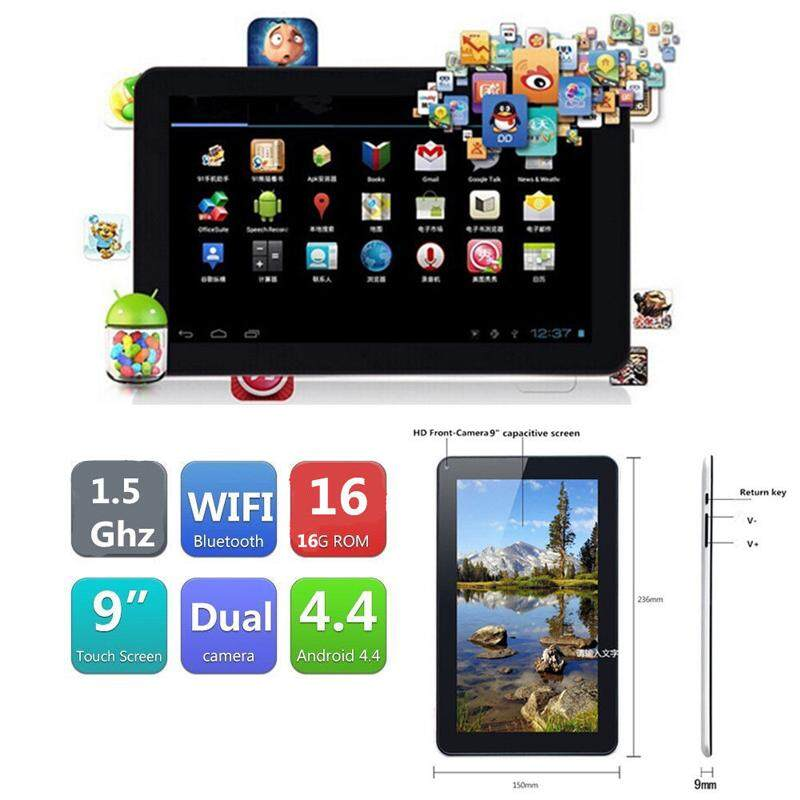 "Triumphant Hot Sell Free Shipping 9"" A33 F900 Quad Core Google Android 4.4 WIFI Bluetooth HD 1G + 16G US"