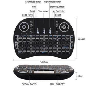 Triumphant Rii I8 Mini 2.4Ghz Wireless Touchpad Keyboard With Mouse For Pc, Pad, Xbox 360, Ps3, Google Android Tv Box, Htpc, Iptv (Black) Malaysia