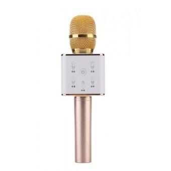 TUXUN Q7 Portable Wireless Bluetooth Speaker Microphone Mic withHandheld Karaoke KTV (Gold)