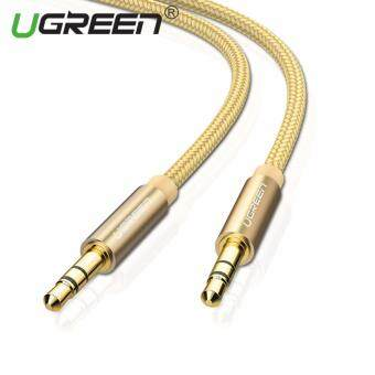 Harga UGREEN 3.5mm to 3.5 mm Jack Aux Cord Gold-Plated Metal ConnectorAudio Cable - 2m,Gold
