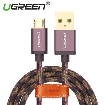 Harga UGREEN Micro USB 2.0 Cable Nylon Braided Sync and Fast ChargingData Cable for Android Mobile Phone - 1M,Arm Green
