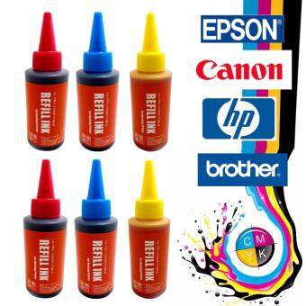 Harga Ultra Compatible Refill Ink CISS for Canon Epson HP Brother Inkjet Printer (6 x 100ml Cyan Magenta Yellow)