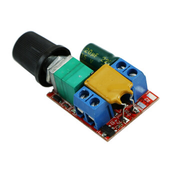 Ultra-small DC 3V 6V 12V 24V 35V PWM Mini Motor Speed ControllerSwitch 5A New - 4