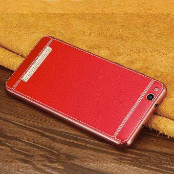 Ultra Thin Slim Litchi Grain Plating Leather Case Soft TPU BackCover For Xiaomi Redmi 4A
