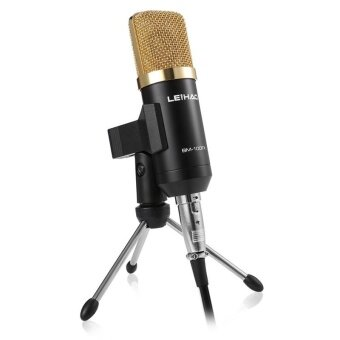 Harga USB Wired Uni-directional Condenser Studio Sound RecordingMicrophone with Tripod Stand for for Radio Broadcasting Voice-overSound Studio