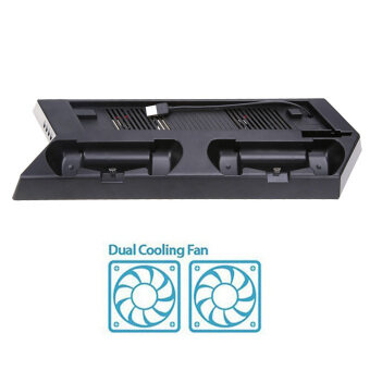 Vertical Stand Cooling Fan with Dual Charging Station for PS4 Slim Console Malaysia