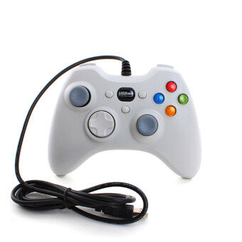 Harga Wired USB Game Controller Joystick Gamepad For PC Laptop ComputerWhite