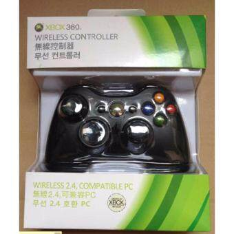 Harga Wireless USB Handle Controller for Microsoft Xbox 360 Console PC Computer Video Game PC Compatible-Black