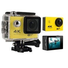 Womdee 4K HD Wifi Action Camera 2.0 Inch 170 Degree Wide Angle Lens Action Camera WIFI 4k Waterproof Sports Action Camera (Yellow) – intl