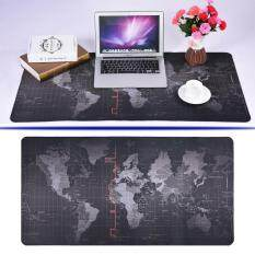 World Map Pattern Non-slip Mouse Pad Gaming Mat With Stitched Edge (300x700x2mm) Malaysia