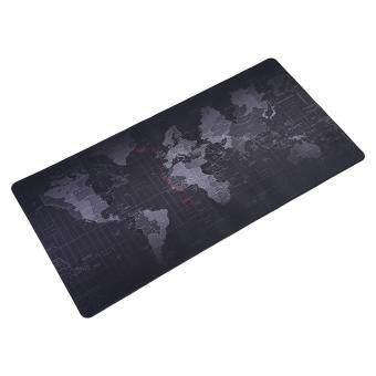World Map Pattern Non-slip Mouse Pad Gaming Mat With Stitched Edge (400x800x2mm) Malaysia