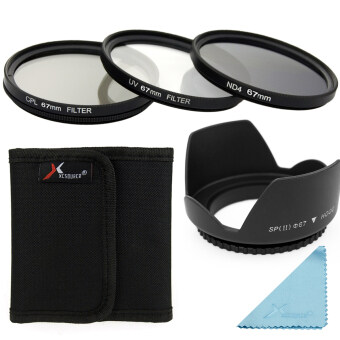 Harga XCSource 5in1 UV CPL ND4 Filter + Lens Hood 67mm for Canon EOS1100D 1000D 6D 7D 5D LF284