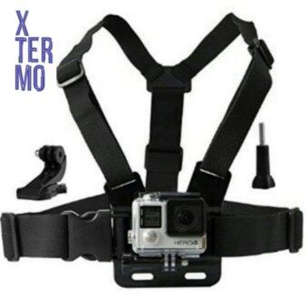 Harga XTERMO Adjustable Chest Strap + J-Hook Mount Harness + Screw forSJCAM SJ4000 SJ5000 SJ5000X PLUS Action Camera