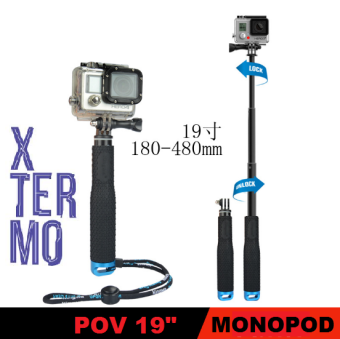 "Harga XTERMO POV Pole 19"" Monopod for GoPro Hero 4, 3+ & 3 Sessions(BLUE)"