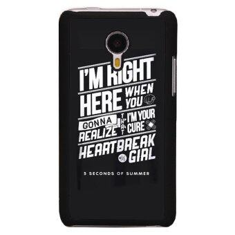 Harga Y&M I'm Right Here Letter Print Phone Case for Meizu MX4(Black)