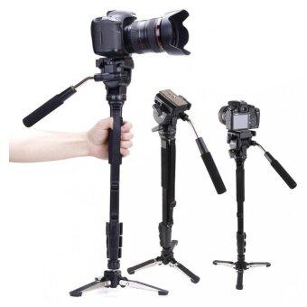 Harga Yunteng C288 Pro Monopod + Fluid Pan Head Ball + DV Unipod MobilePhone Clip Holder for Canon Nikon DSLR Camera VCT-288