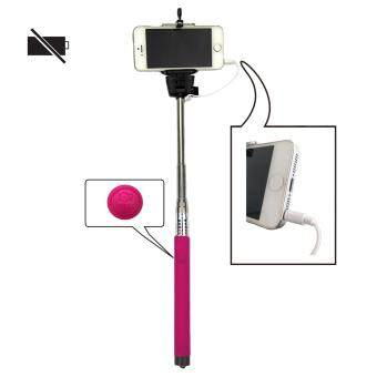 Harga Z07-5S Mobile Phone Monopod Selfie Stick Self Portrait Pole withRemote Shutter Button 3.5mm Cable for iPhone 4S 5 5S 6 6 Plus /Samsung Galaxy S4 S5 S6 / HTC etc