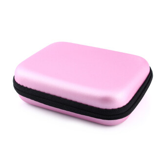 Harga Zip-up USB EVA Carry Case Pouch Bag For 2.5'' HDD Hard Drive DiskPC GPS jk (Pink)