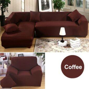 1 2 3 4 Seater L Shape Loveseat Chair Stretch Sofa Couch ProtectCover Slipcover Coffee