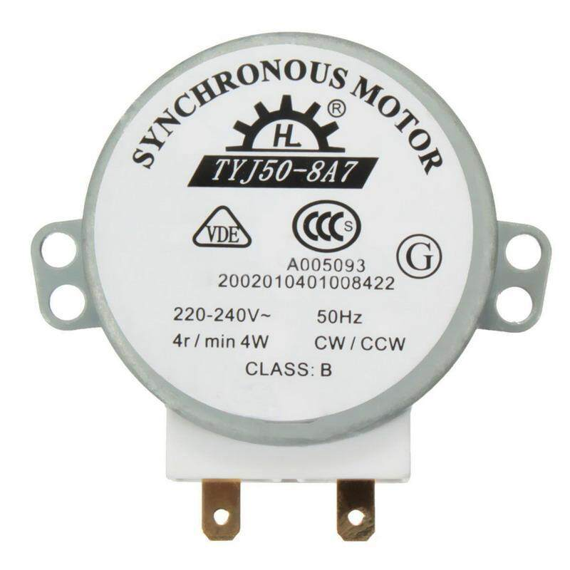 Buy 1 PC New AC 220V-240V 50Hz CW/CCW Microwave Turntable Turn Table Synchronous Motor TYJ50-8A7 D Shaft 4 RPM Malaysia