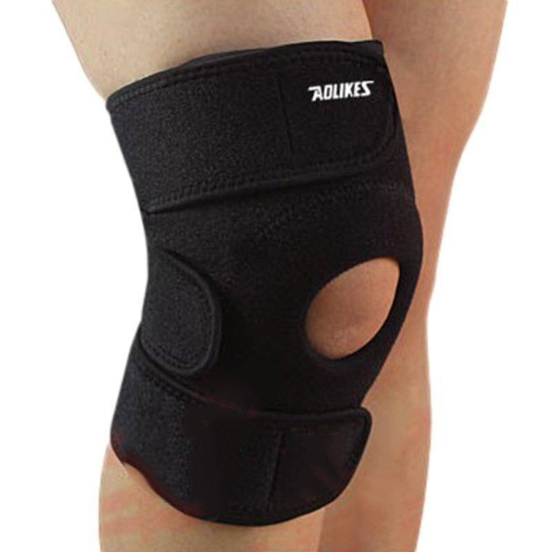 Buy 1 Pcs Free Size Elastic Brace Kneepad Adjustable Patella Knee Pads Knee Support Brace Safety Guard Strap for Sports Work Safety Malaysia
