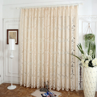 Harga 1 pcs Rustic design custom made curtain for windows dining roomfinished curtain drapes curtain