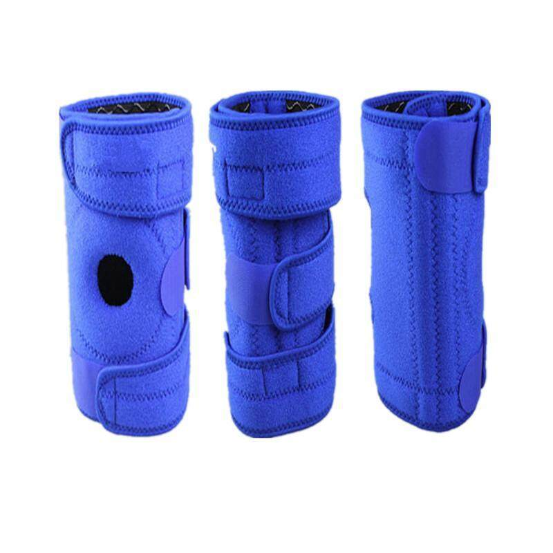 Buy 1 piece  blue Mountaineering knee pad for right leg with 4 springs support cycling knee protector Mountain Bike Sports Safety kneepad brace Color:blue Malaysia