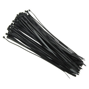 100Pcs New Nylon Zip Trim Wrap Cable Loop Ties Tie Wraps Wire SelfLocking[Black,2.5*200]