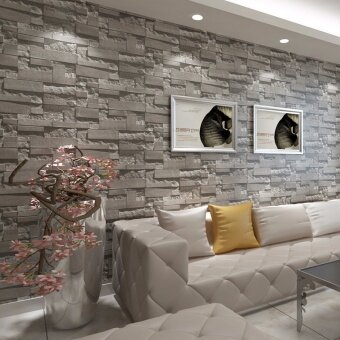 10m 3d embossed non woven brick wallpaper wall paper rolls for 3d wallpaper for living room malaysia