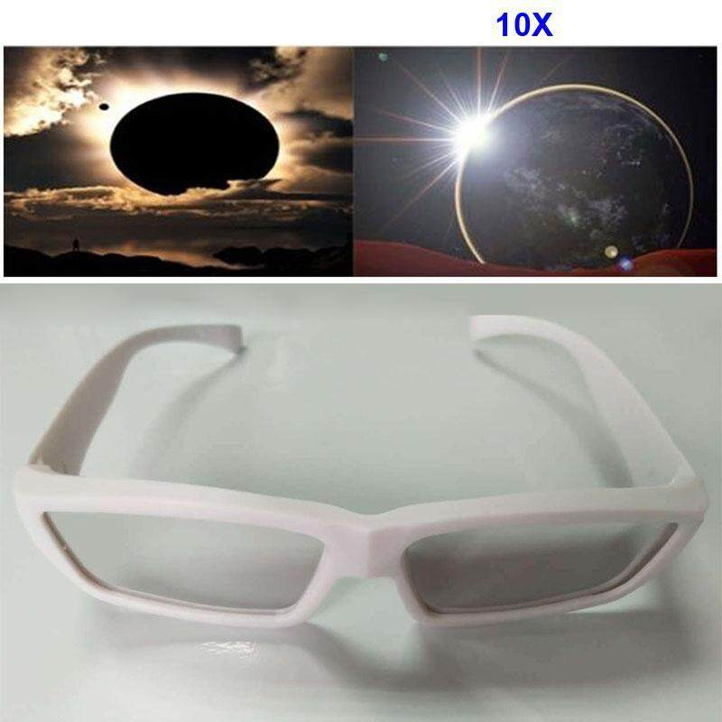 Buy 3Pcs Fashion Solar Eclipse Glasses Plastic Viewing Protect Eyes ISO CE Certified Malaysia