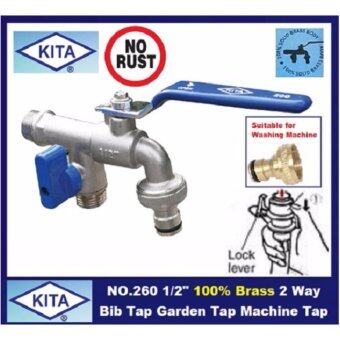 "Harga 1/2"" 100% brass 2 way bib tap garden tap machine tap"