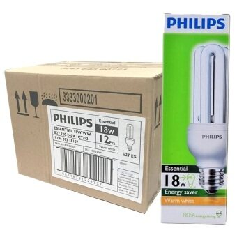 Harga 12 PCS (1 box) Philips Essential Stick Energy Saving Fluorescent Bulb 18W CDL PLCE E27 220-240V (Cool Daylight)