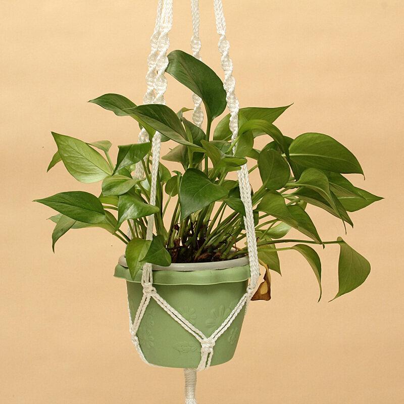 """Buy 126cm/50"""" Handmade Macrame Rope Plant Hanger Holder Garden Home Decor for 25kg Malaysia"""