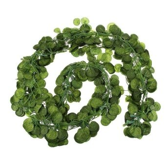 Harga 12pcs 6.5ft Artificial Wall Hanging Ivy Vine Foliage Leaf GarlandPlants Decor Flowers Home Decor - Pumpkin Leaf