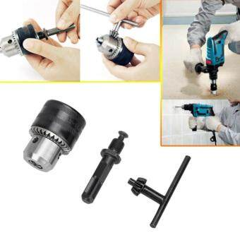 13MM Professional HSS Drill Chuck with SDS Adaptor Hardware Tool Part (Drill Chuck + Key + Hammer Conversion Lever Handle)