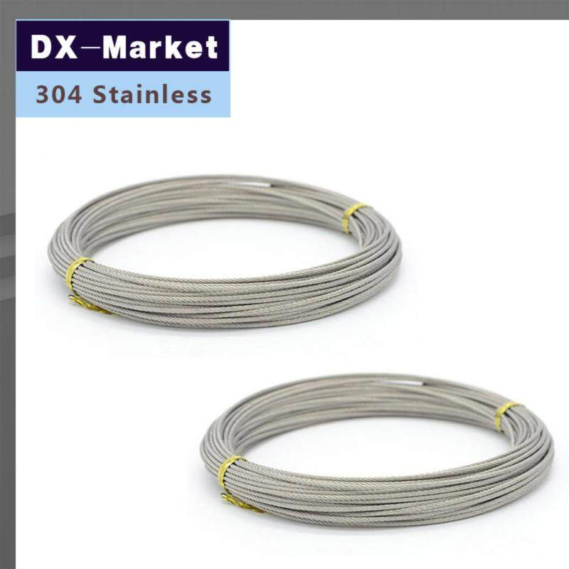 Buy 1.5mm wire rope , 50meter/lot , 7*7 , 304 stainless steel wire rope Anti rust line Malaysia