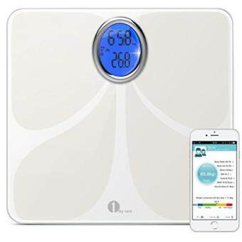 1byone Digital Bluetooth Scale Body Fat Scale Body Scale Bathroom Scale with Phone and Tablet App to Manage Your Weight