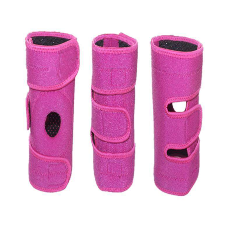 1pcs Mountaineering Sports cycling Brace knee pad for right leg (Pink)