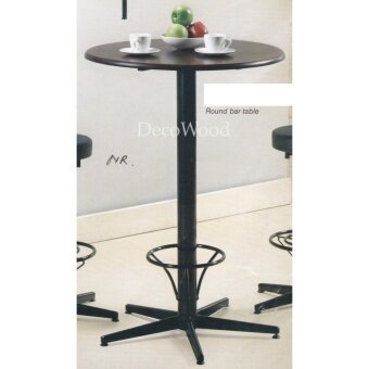 2 & Half Feet Round Solid Wood Table/Bar Table/Disco Table/Pub Table/High Table/Dining Table/Writing Table/Mamak Table L750MM X W750MM X H1080MM Pre Order 1 Week
