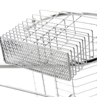 2-Tier Stainless Steel Dish Drying Holder Rack by foci cozi - 4