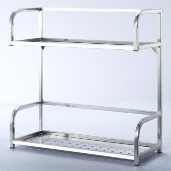 2-Tier Stainless Steel Kitchen Condiment Rack (small)