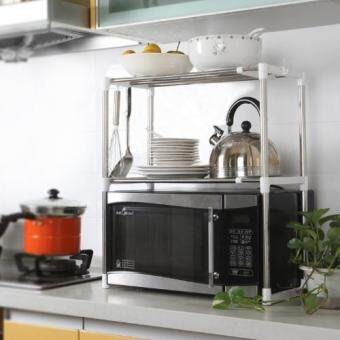 2-Tier Stainless Steel Rack (Silver)