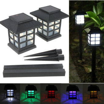 2 x Outdoor Solar Oriental LED Lawn Path Yard Garden Light Landscape Stake Lamp Mult-Color