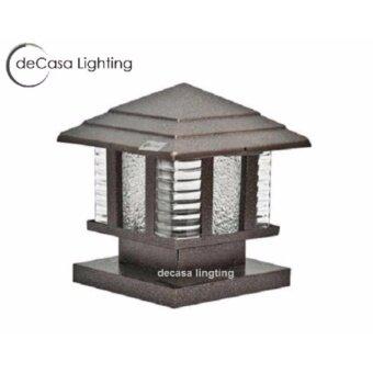 20cm Gate Lamp DECASA Outdoor Pillar Light 20cm Gate Lamp Garden Light E27  Weather Proof