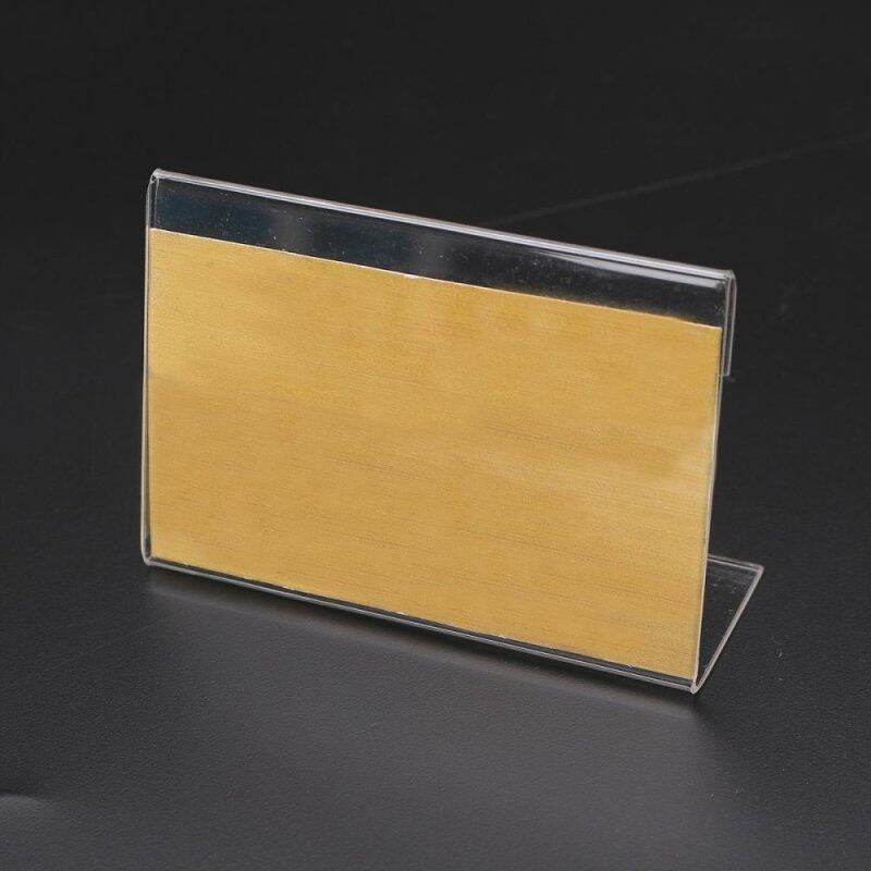 Buy 20pcs Acrylic Name Card Display Holder Label Price Sign Tag Shop Stands 9cmx6cm Malaysia